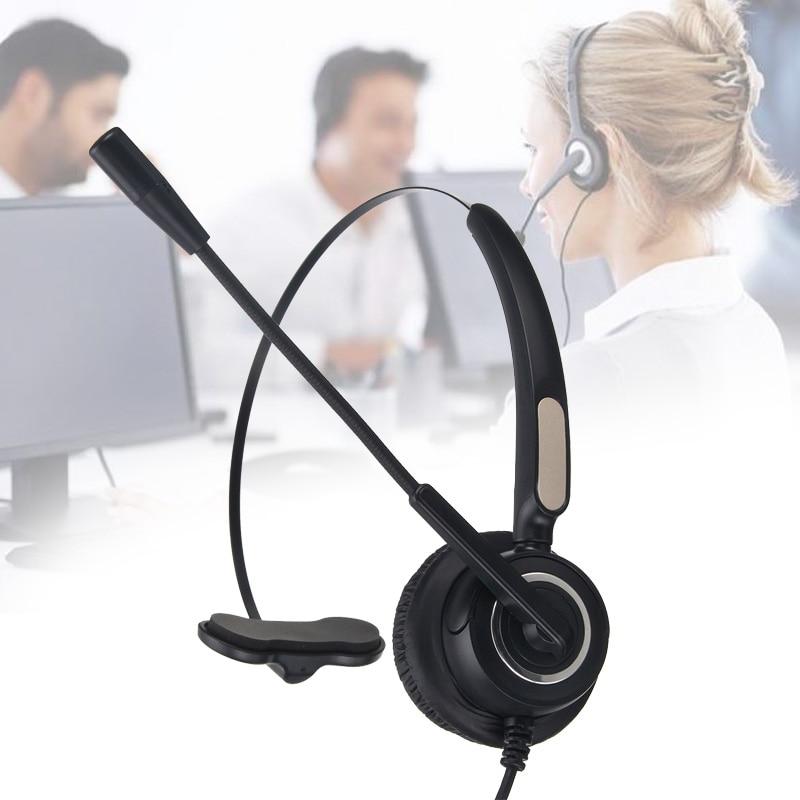 CLAITE RJ9 колл-центр наушники Monaural обслуживание клиентов наушники шумоподавление Гарнитура вызов наушники с микрофоном