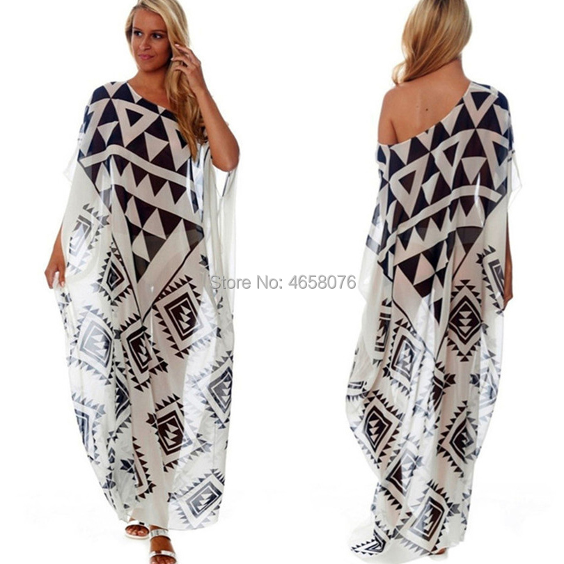 Plus size Beach Cover up Chiffon Dress Saida De Praia Beach Kaftan Robe de Plage Bikini Cover up Tunics for Beach Pareos