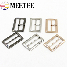 10pcs MEETEE 20mm/25mm/30mm/35mm/40mm/45mm/50mm  Square metal shoes bag Belt Buckles decoration DIY Accessory Sewing