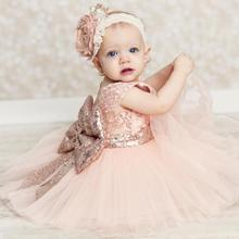 Baby girl dress latest baby female princess child short sleeve banquet party girls lace clothing