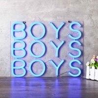 10 ''х 10'' мальчиков светлая неоновая вывеска Пивной бар Pub вечерние украшения домашняя, комнатная, Настенная украшения подарки 25x25 см США Plug