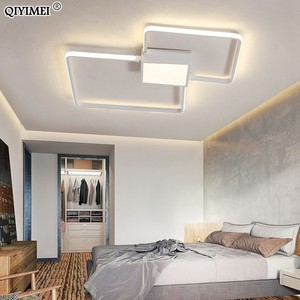 Image 3 - Modern LED avizeler işık lamba oturma odası aydınlatma üç kare yatak odası mutfak yüzey montaj kısılabilir uzaktan kumanda ile
