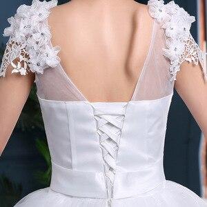 Image 4 - Дешевые 2020 новые модные роскошные свадебные платья с длинными рукавами 2020 с кружевными бусинами модное свадебное платье Vestidos De Noiva