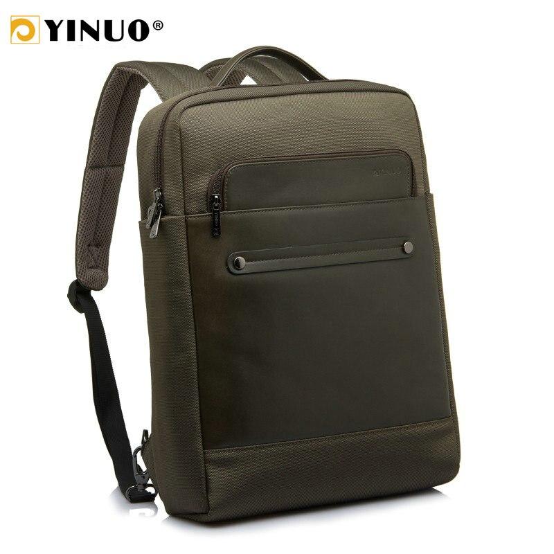 YINUO sac à dos en cuir pour ordinateur portable 13 pouces 15 pouces étanche hommes