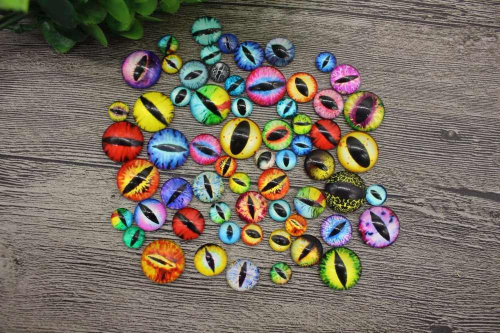 20Pcs/lot Glass Doll Eye Colorful Eyeballs DIY Crafts for Baby Dolls Toys Dinosaur Animal Eyes for Dolls Accessories 10/15/20mm