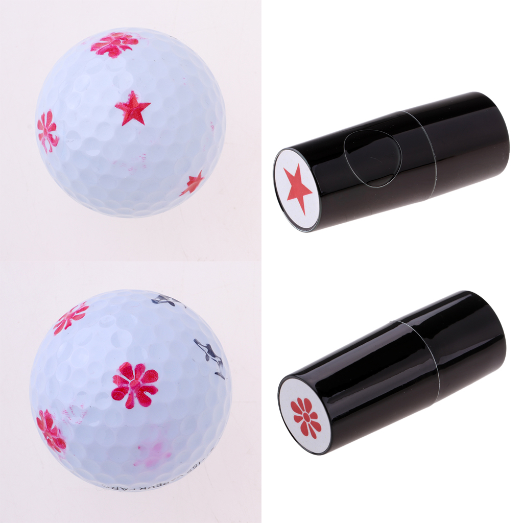 2 Count Colorfast Golf Ball Stamp Stamper Signet Golfer Gift Seal Club Prize Giveaways