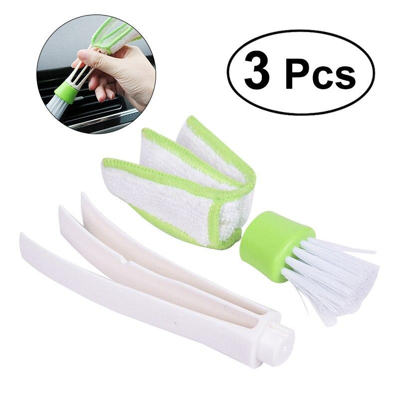 Modestil 3 Pc Mini Duster Doppel Mikrofaser Vent Pinsel Fans Klimaanlage Auto Outlets Schnell Reiniger Abnehmbare Tuch Abdeckung Abstauben Werkzeug