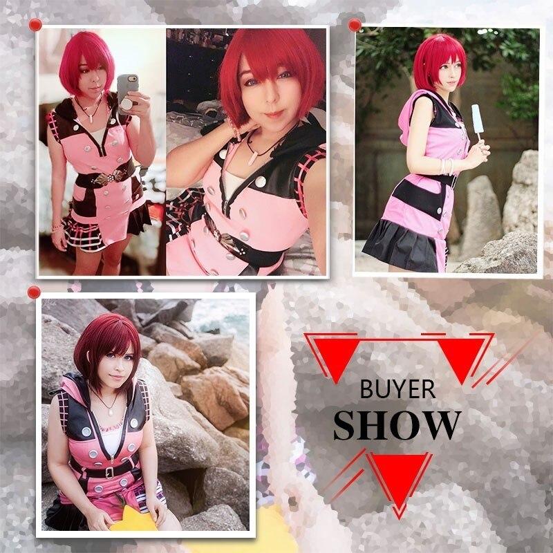 Anime Game Kingdom Hearts 3 Dream Drop Distance Cosplay Kairi Princess of Heart Costume Carnival Adult Halloween Party Dress