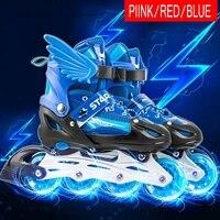 Adjustable Size Children Roller Skates 4 Wheels Skating Shoes Inline Roller Blades Skates for Girls Boys Kids Gifts