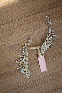 Image 2 - Crystal Bridesmaid Headdress Opal Bridal Hair Clip Hairpin Handmade Gold Bride Head Piece For Women Wedding Party Accessories