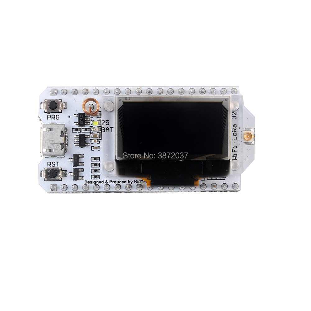 2pcs 0 96 quot OLED Display Module ESP32 WIFI Bluetooth Transceiver SX1276 Lora Module IOT 868 915MHz with Antenna JST Con in Home Automation Modules from Consumer Electronics