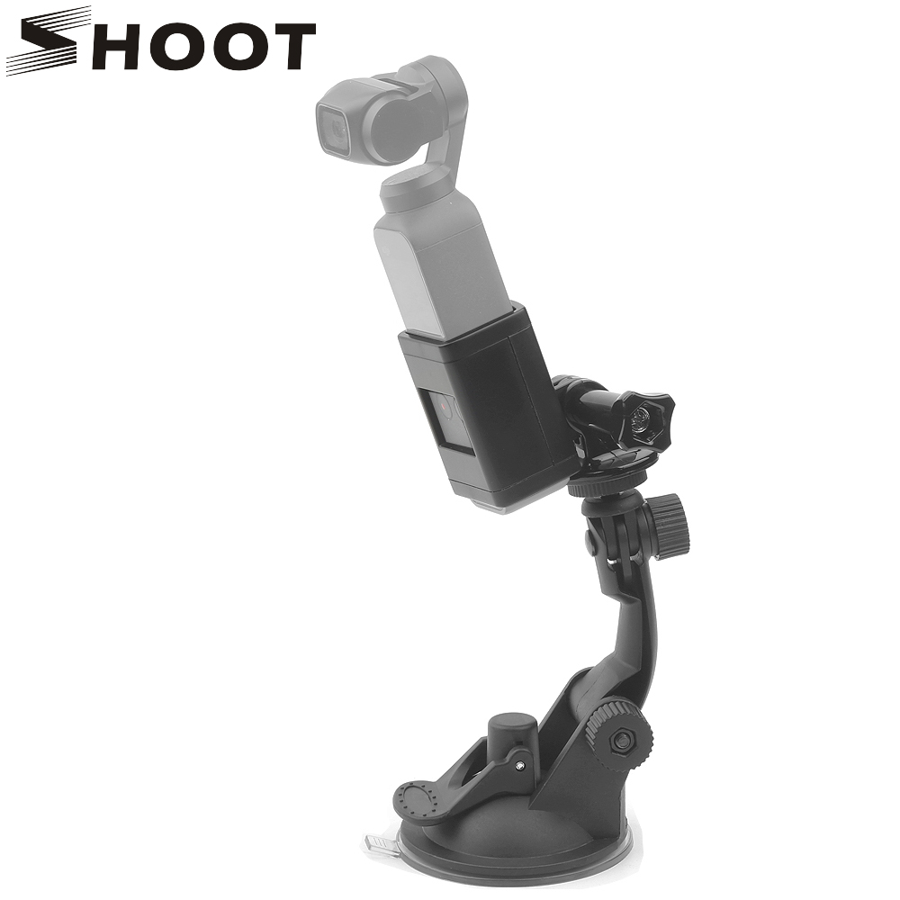 SHOOT Suction Cup Mount for Dji Osmo Pocket Expansion Bracket with Backpack Clip Tripod Holder for Dji Osmo Pocket Accessories pocket tripod pro