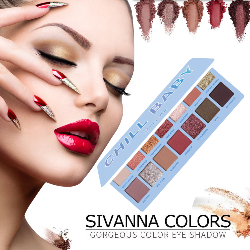 100% QualitäT Cmaadu 14 Farben Nude Glänzende Lidschatten-palette Make-up Glitter Pigment Wasserdicht Rauchigen Lidschatten Pallete Kosmetik Tslm2