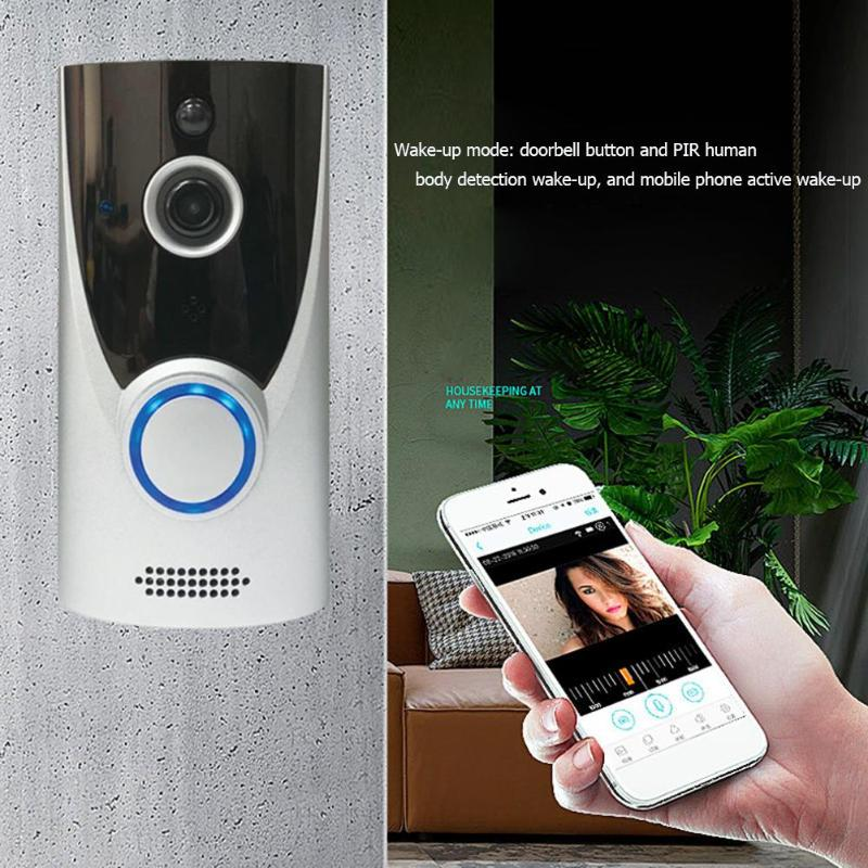 HS-D006 Wireless WiFi 720P 1MP Camera Intelligent Doorbell Two Way Home Family Audio Mobile Remote Video Doorbell Doorphone HS-D006 Wireless WiFi 720P 1MP Camera Intelligent Doorbell Two Way Home Family Audio Mobile Remote Video Doorbell Doorphone