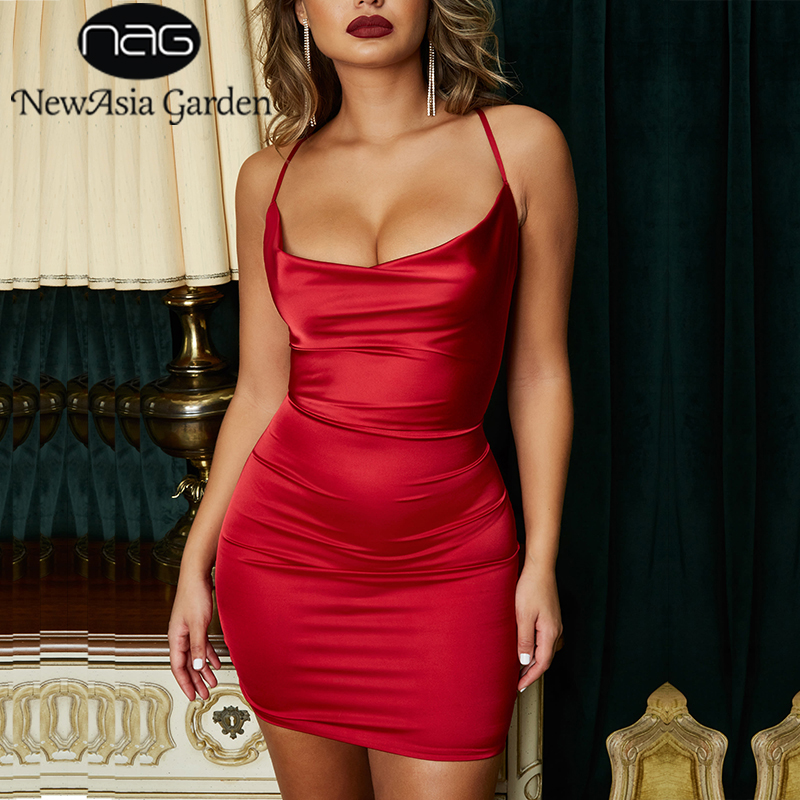 NewAsia Garden Red Satin <font><b>Dress</b></font> Women Bodycon <font><b>Dress</b></font> Leopard Print Summer <font><b>Dress</b></font> <font><b>Sexy</b></font> <font><b>Dresses</b></font> Party Night <font><b>Club</b></font> <font><b>Wear</b></font> <font><b>Mini</b></font> Vestidos image