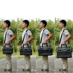 Image 5 - 多機能ツールバッグ防水 13 16 18 20 インチ電気技師プロフェッショナルオックスフォード布バッグ大容量キット