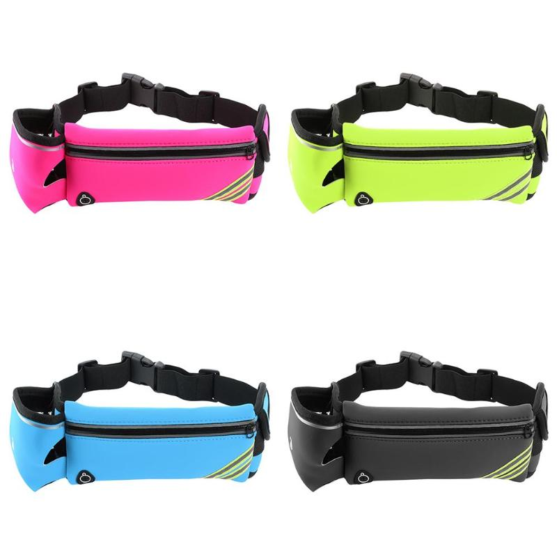 Outdoor Running Water Bottle Waist Bag Mobile Phone Holder Jogging Belt Belly Bag Women Gym Fitness Bag Sport Accessories Z65