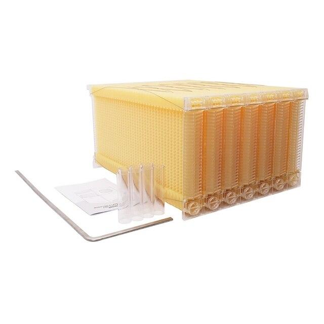 خلية النحل الخشبية الأوتوماتيكية 7 قطعة إطار خلية النحل معدات تربية النحل الخشبية خلية النحل أداة تربية النحل 4