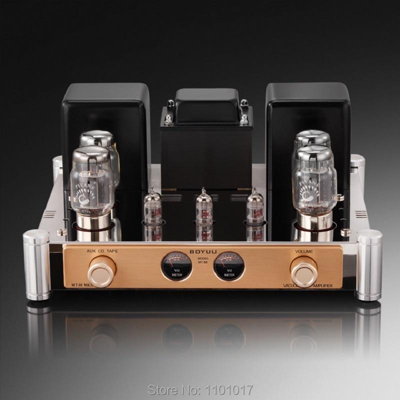 Boyuu MT-88 KT88 Amplificateur à Tubes Push-Pull HIFI EXQUIS Lampe Reisong Fait Main Ecc82 Ecc81 Ampère MT88