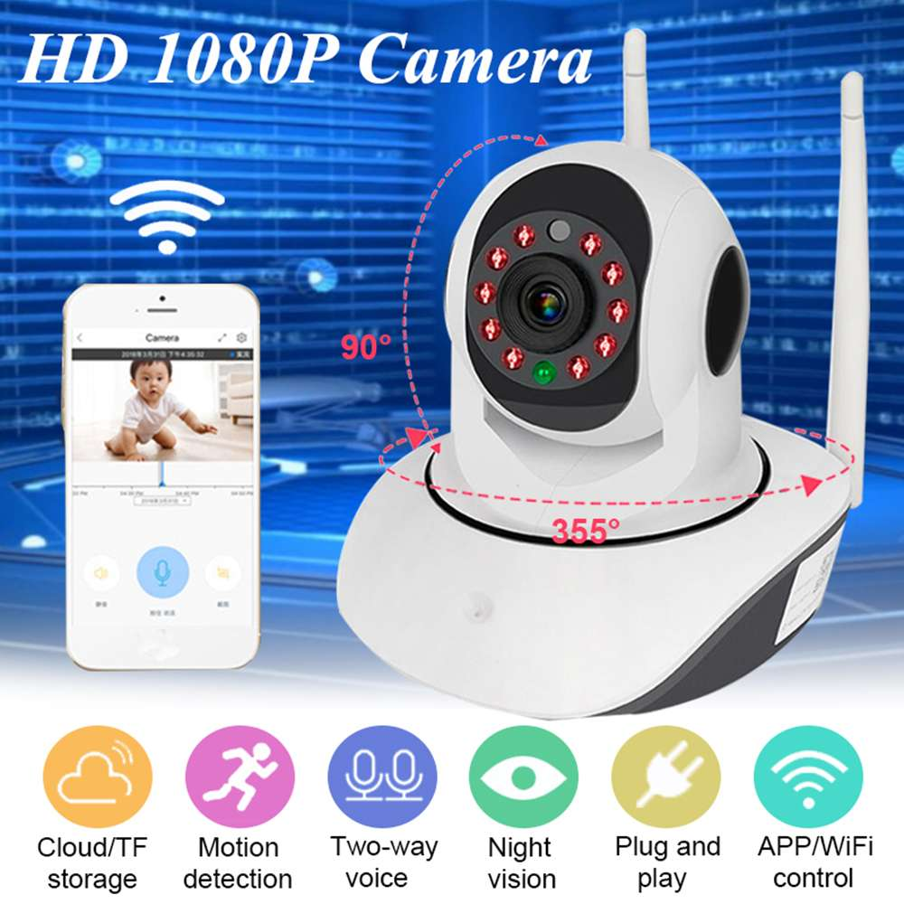 New Home Indoor Night Vision Wireless Camera HD1080P Intelligent Surveillance Camera Mobile Network Wifi Remote Support TF cardNew Home Indoor Night Vision Wireless Camera HD1080P Intelligent Surveillance Camera Mobile Network Wifi Remote Support TF card