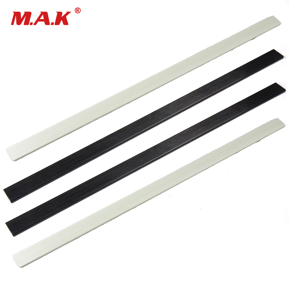 2 Pcs Mixed Fiberglass Bow Limbs High Strength 6x30x600mm In Black/White 40-50 Pound For DIY Bow Archery Hunting Shooting
