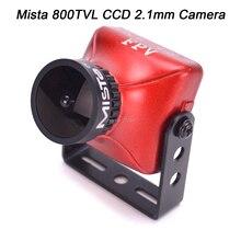Yükseltilmiş HD Mista 800TVL CCD 2.1mm geniş açı HD 1080P 16:9 OSD FPV kamera PAL/NTSC değiştirilebilir için rc dört pervaneli helikopter modeli Drone