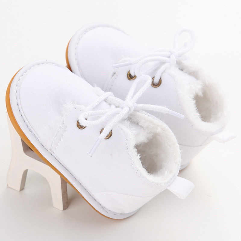 2019 Brand Casual Newborn Infant Girl Boy Baby Snow Booties Fur Boots Winter Warm arrival Style little Kids Strappy Shoes 0-18M