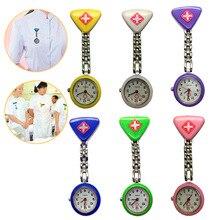 1PC Hot Sale 2019 Clip Nurse Doctor Pendant Pocket Quartz Red Cross Brooch Nurses Watch Fob Hanging Medical reloje