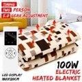 180*120 см Электрический Одеяло коврик Водонепроницаемый электроодеяло 100 W 5 Шестерни Функция времени электрический обогреватель ковер с подо...