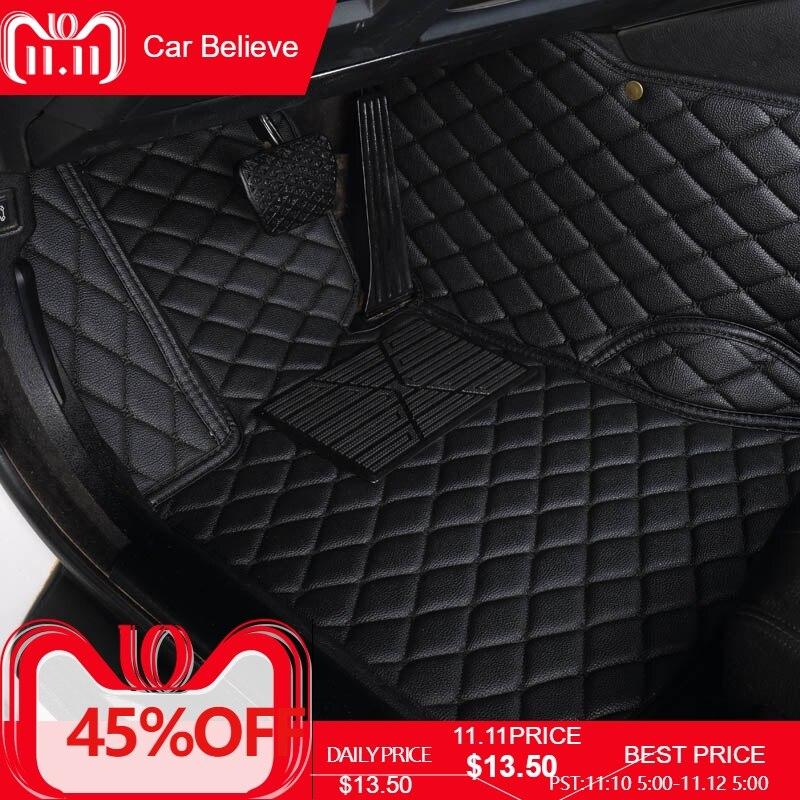 Car Believe Auto car floor Foot mat For bmw f10 x5 e70 e53 x4 f11 x3 e83 x1 f48 e90 x6 e71 f34 e70 e30 waterproof accessories car floor mat carpet rug ground mats for bmw x1 e84 x3 e83 f25 x4 f26 x4m x5 e53 e70 f15 x6 e71 f16