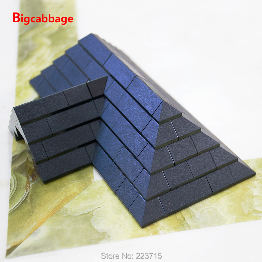 Купить с кэшбэком *Roof Tiles pack* brick pack  DIY enlighten block brick set No. 6119 Compatible With Other Assembles Particles