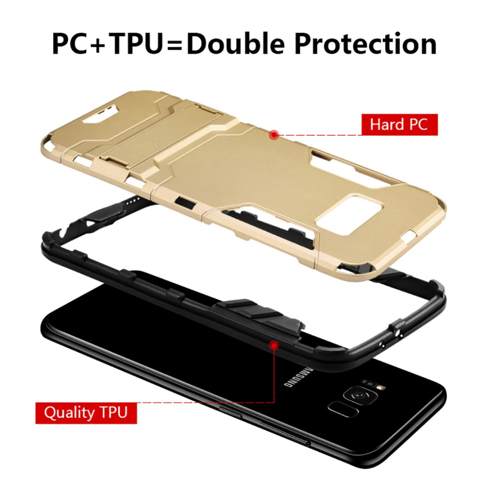 KISSCASE Fashion Hard PC Armor Phone Holder Stands Case For Xiaomi 8 SE A1 A2 Mix 2 2S Redmi 4X 5A 5 Plus Note 4 5 Cover Holders in Phone Bumpers from Cellphones Telecommunications