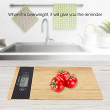 Digital Multi-function Bamboo LED Display Electric Kitchen Scale