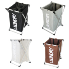 Aluminum Alloy Frame Foldable Waterproof Laundry Hamper with Handles