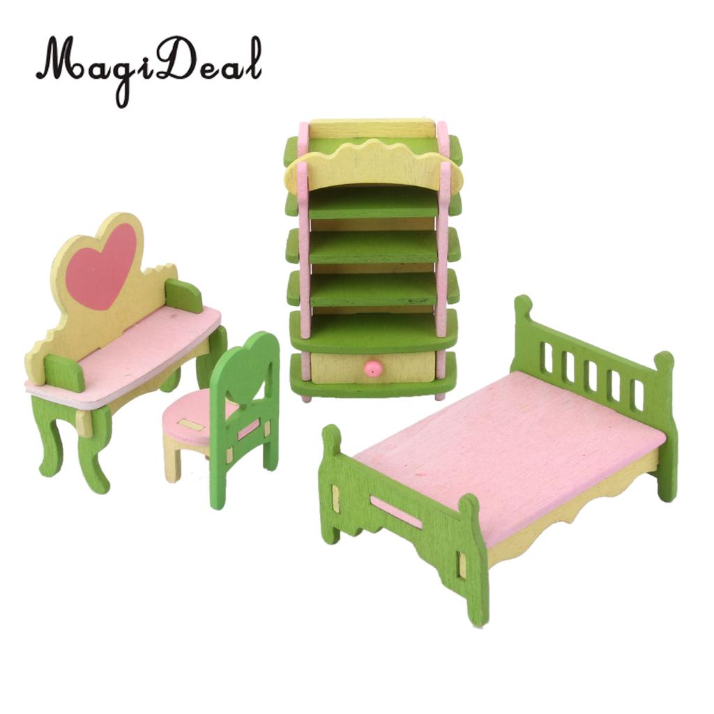 Kids Bedroom Furniture Kids Wooden Toys Online: MagiDeal Mini Dollhouse Furniture Wooden Toy Chair