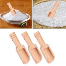 3 шт деревянная ложка для соли, мини Нетоксичная ложка для леденцов, ложки для соли, ложки, кухонные принадлежности, столовые приборы