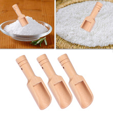 3pcs Wooden Bath Salt Spoon Mini Nontoxic Candy Spoon Bath S
