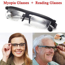 38ee2c1ac1 CANCHANGE Dial vision Adjustable Reading Glasses Myopia Eyeglasses -6D 3D  Variable