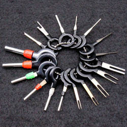 18 шт Автомобильный разъем терминала Удалить Набор инструментов штифт автомобиля электрические обжимной разъем для проводов Набор