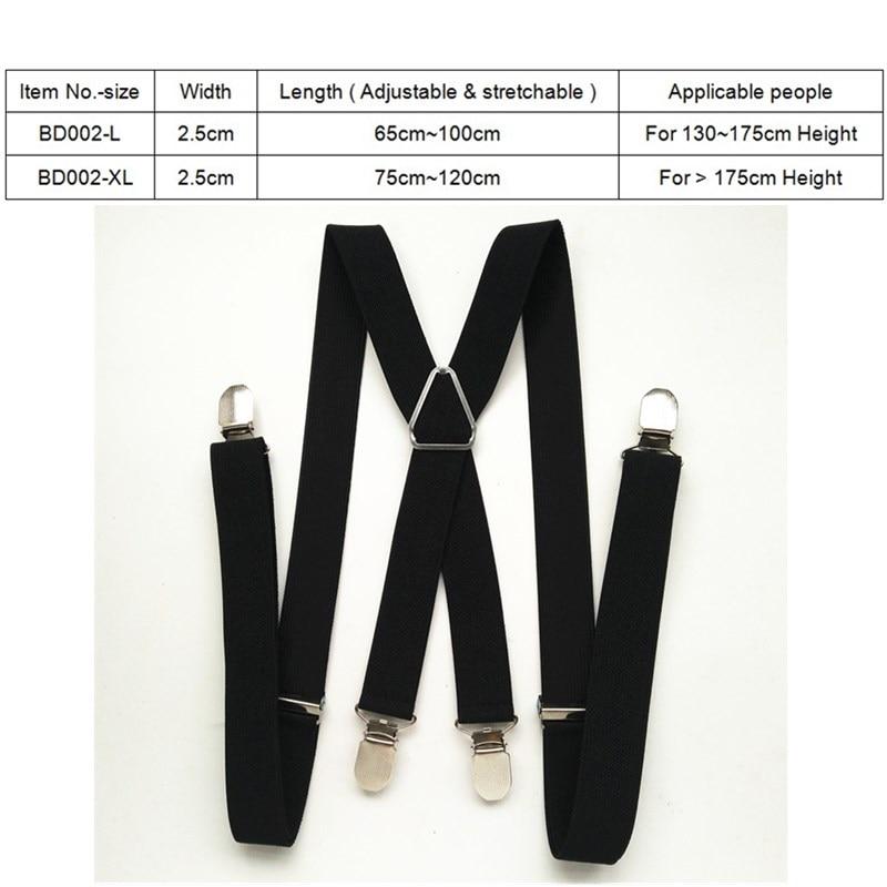 120cm panjang warna pepejal dewasa lelaki suspender 2.5 cm tali - Aksesori pakaian - Foto 2