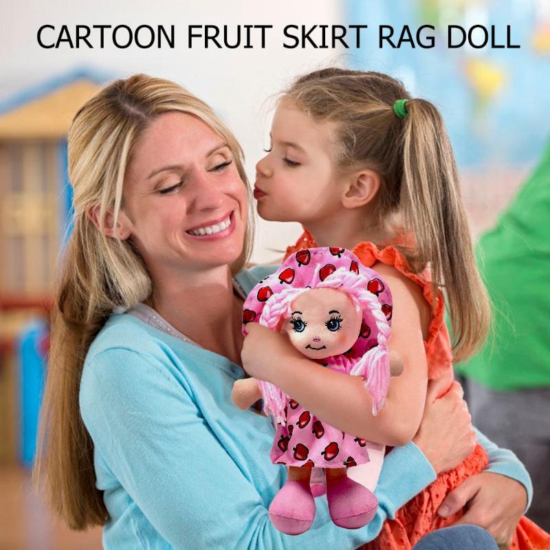 Image 4 - 25cm Cartoon Kawaii Fruit Skirt Hat Rag Dolls Soft Cute Cloth Stuffe Toys for Baby Pretend Play Girls Birthday Christmas Gifts-in Dolls from Toys & Hobbies