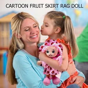 Image 4 - 25cm Cartoon Kawaii owoce spódnica kapelusz szmata lalki miękkie słodkie tkaniny nadzienie zabawki dla dziecka udawaj zagraj dziewczyny prezenty na urodziny, boże narodzenie