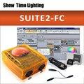 Mostrar tiempo Sunlite Suite2 FC DMX-USD controlador DMX 1536 canales bueno para la fiesta de DJ luces LED de iluminación de escenario software de control