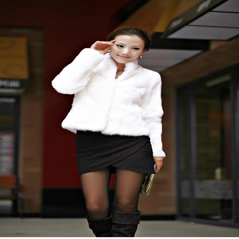 Nouveau Naturelle Fourrure Paragraphe Femme De Court Manteaux Wome Manteau Cheveux À 100 Parka Pour Femmes Lapin Femelle Manches D'hiver Longues Vison 2019 ExzCScq0wy