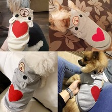 Купить с кэшбэком Dog Clothes For Small Dog Ropa Para Perro Clothing Coat Hoodies For Chihuahua Pets Cute Dogs Clothes Pajamas Love Bear Costume