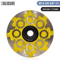 1 stk/partij diamant 4 inch hars gevuld cup wielen turbo cup slijpen schuurmiddelen voor slijpsteen, beton en tegels