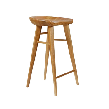 Solid Wood Bar Chair Multi-function Household Dining Chair Leisure Simple High Stool with Footrest Front Desk Reception Stool leisure creative solid wood seat bar stool simple style household multi function dining chair coffee shop stable iron high stool