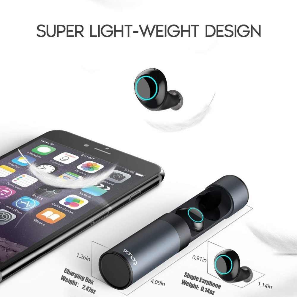 88235d57fce ... Sanag J1 Bluetooth Earphone 5.0 TWS Mini Wireless In-Ear Ture Wireless  Earbuds Stereo Headset ...