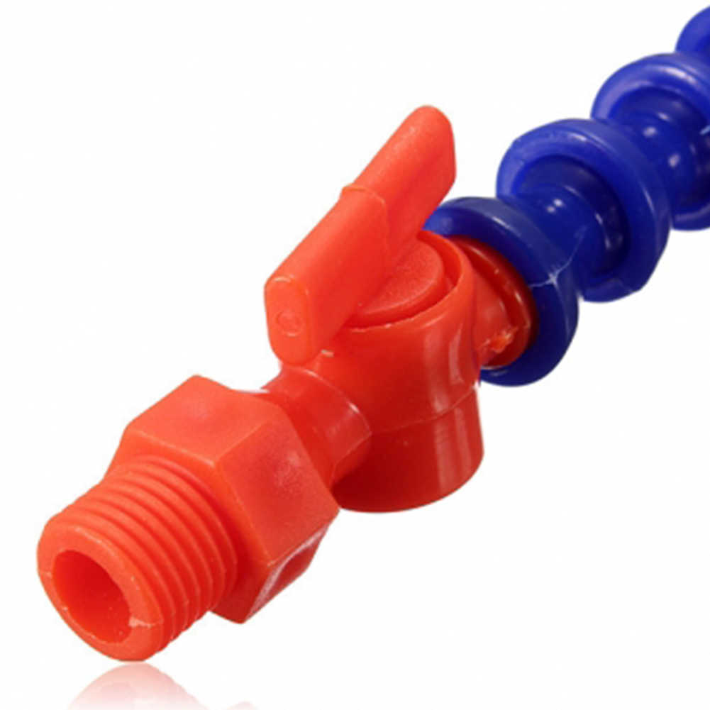 Yüksek kaliteli 1/4 yuvarlak meme esnek plastik yağ su soğutucu boru hortumu CNC + anahtarı 30cm
