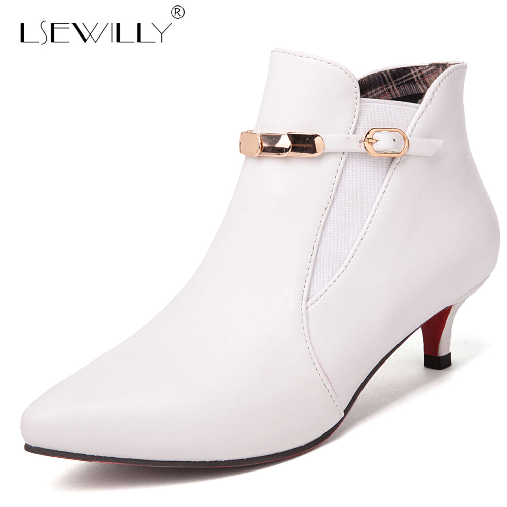 Lsewilly Fashion Women Pumps Med Heels 2019 Spring Sexy Pointed Toe Thin Heels Ankle Boots for Women Red Wedding Shoes E326Lsewilly Fashion Women Pumps Med Heels 2019 Spring Sexy Pointed Toe Thin Heels Ankle Boots for Women Red Wedding Shoes E326